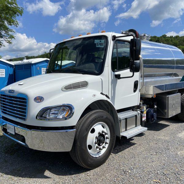 Freightliner M2-106 with 2000 gallon aluminum vacuum tank